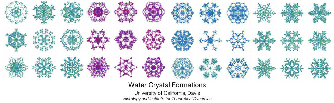 water crystal structure formations